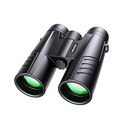 Fernglas, Shadowhawk 12x42 HD Kompakt Fernglas Erwachsene mit Nachtsich, Binoculars für Kinder und Erwachsene, Ferngläser Wasserdicht für Reisen Vogelbeobachtung Wandern Jagd Sightseeing