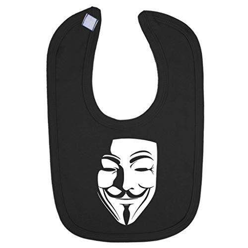 Cloud City 7 Schaduw Masker V voor Vendetta Anonieme Baby en Peuter Bib Zwart