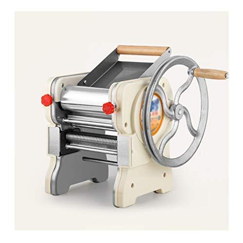 ZWB Máquina Pasta Fresca Manivela de Prensa máquina de los tallarines del Acero Inoxidable, Fabricante de la Pasta con Ajustable Ajustes Grosor Robusta Fideos Cortador de Espagueti, Fetuchini