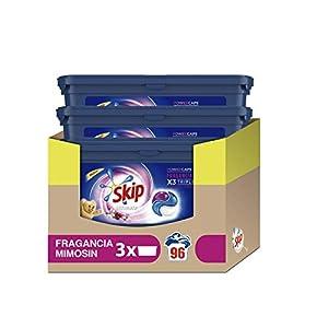 Skip Ultimate Triple Poder Fragancia Mimosín Detergente Cápsulas para Lavadora – Paquete de 3 x 24 lavados – Total: 72 lavados