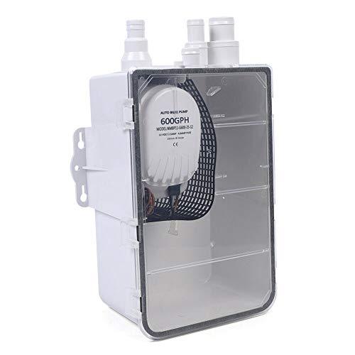 Sistema de bomba para plato de ducha, 12 V/24 V, 600 GPH, con interruptor de flotador automático, para yates y caravanas (24 V)