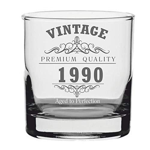 Lapal Dimension Vintage 1989 30e verjaardag traditionele Whisky glas