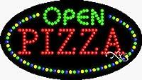 15x 27x 1インチPizza OPENアニメーション点滅LEDウィンドウサイン