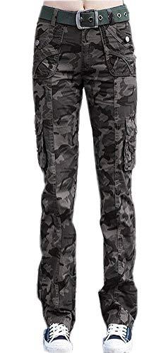 HX fashion Camouflage Broek Dames Elegante Mode Comfortabele Maten Sportbroek Lente Herfst Met Zakken Knoopsluiting Knoop Slim Fit Comfortabele Leger Joggingbroek Broek Stretch Joggingbroek Broek Jong