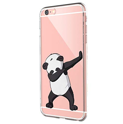 Pacyer® Funda compatible con iPhone 6 iPhone 6s Panda TPU Case Gel Protector Skin Shell Case Cover para Apple iPhone6 iPhone6s (4,7