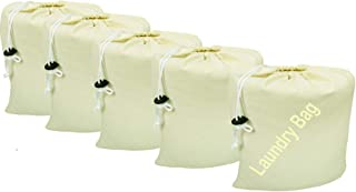 Linen Clubs 100% Cotton 8- by 10-Inch Muslin Bags with Drawstring, 12-Pack