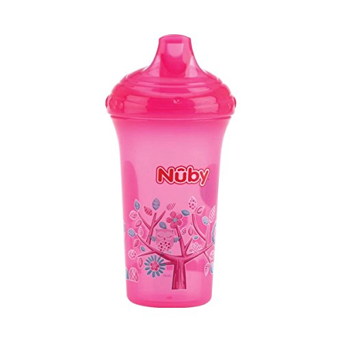 Nûby ID10366PINK auslaufsicherer Trinkbecher Color mit Motiv, 270 ml, rosa