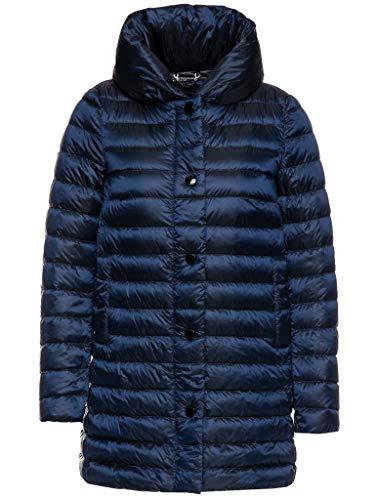 Geox Damen W Jaysen Jacke Mantel, Blau (Dk Eclipse Blue F4475), 40 (Herstellergröße: 46)