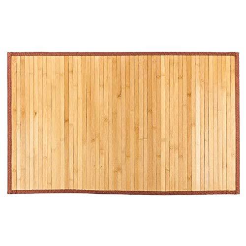Alfombra oriental de bambú para cama de tamaño completo, antideslizante, impermeable, elegante, hecha a mano para recámara y pasillo. (S (53,3 x 86,4 cm), bambú)