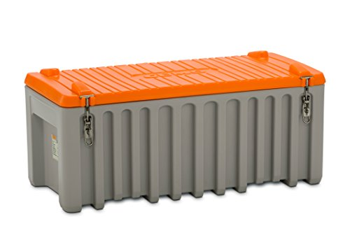 CEMO 10332 Werkzeugbox, grau/orange, 250 L