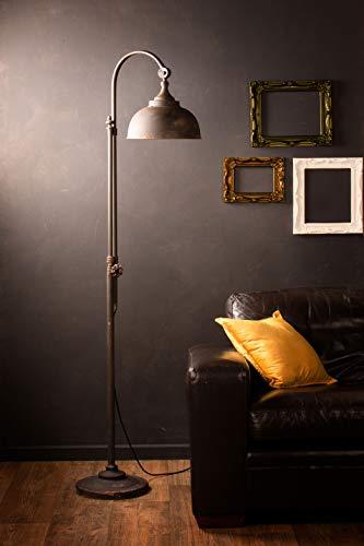Industrial Floor Lamp Retro Vintage Style Iron Black Metal Tall Pipe Tap Standing Light Living Room Hallway Furniture