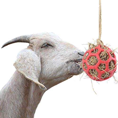 YUYUSO Goat Feeder Ball Toy Treat Hay Feeder Ball Hanging Feeding Toy for Goat Sheep headbutting Pen Rest