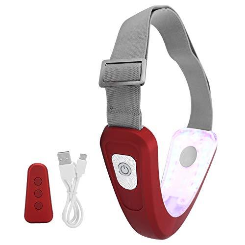 Machine de massage de levage minceur électrique du visage, masseur en forme de V à double retrait du menton, mini masseur de point de raffermissement réglable de serrage du visage