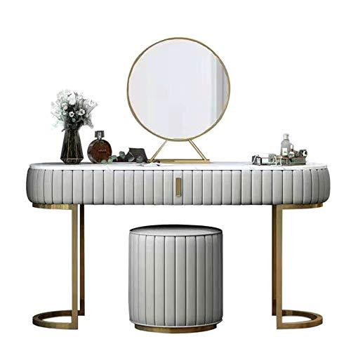 Lwieui Dressing Table Camera da Letto Moderna Dressing Table Home Office Computer Desk Vanity Table Mobili Vanity spogliatoio (Colore : White, Size : 80x40cm)