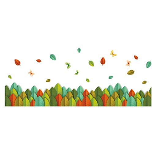 Sylvialuca Muursticker Bloemen Plant Hek Diy Bloemen Plant Decals Voor Woonkamer Slaapkamer Baseboard Hoek Lijn Decor