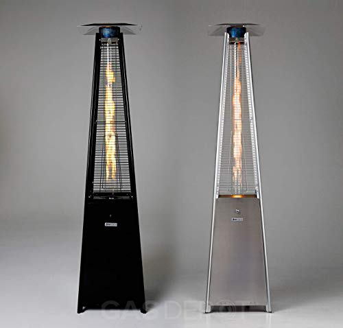 Gasdepot Real Flame Outdoor Pyramid Patio Heater (13KW) (Black without Cover)