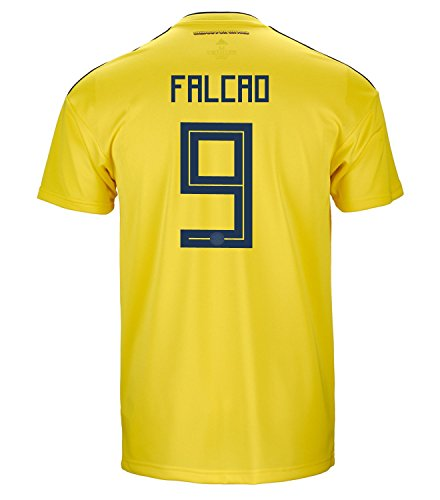 adidas Falcao #9 Colombia Official Home Men's Soccer Jersey World Cup Russia 2018 (S)