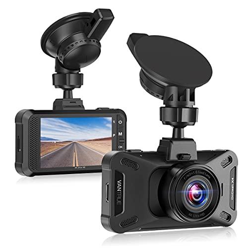 VANTRUE 4K Dash Cam X4 Ultra HD Car Camera 2160P, 2K/ 60fps Car Dashboard Dashcam, 160° 3 Inch DVR Video Recorder with WDR Night Vision, Loop Recording G-sensor, Parking Motion Detection for Uber Lyft
