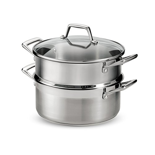 Tramontina 80120/523DS Stainless Steel Induction-Ready, Impact-Bonded, Steamer Set, 5 Quart