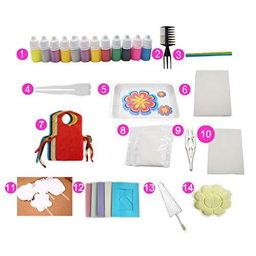 Victoy Aquarell Set Wasserpigmente für Papier Marmorieren Kunst Werkzeug mit A5 Ablage Premium-Version in 12 Farben