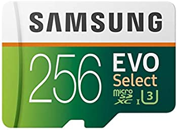 Samsung EVO Select 256GB UHS-I U3 microSDXC Card with Adapter