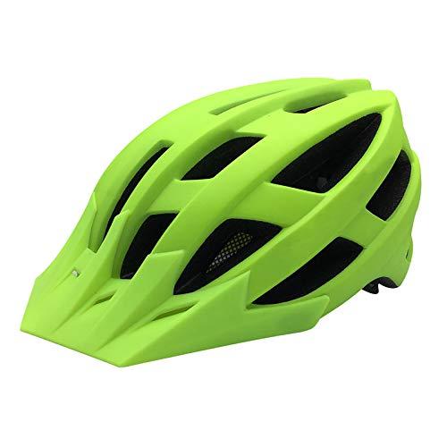 BANGSUN 1 casco de bicicleta de montaña con visera de seguridad y 21 rejillas de ventilación para vehículos de carretera, deportes extremos.
