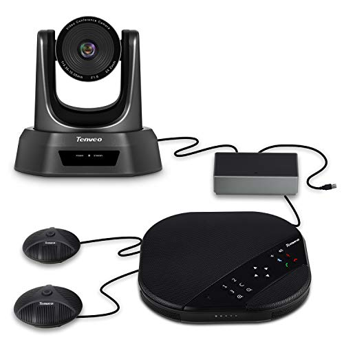 Tenveo Group All-in-One Video Conferencing System, USB PTZ Conference Room Camera with Expansion Mics (3X Zoom TEVO-VA2000E)