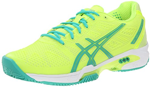 ASICS Women's Gel-Solution Speed 2 Clay-W, Flash Yellow/Mint/Sharp...