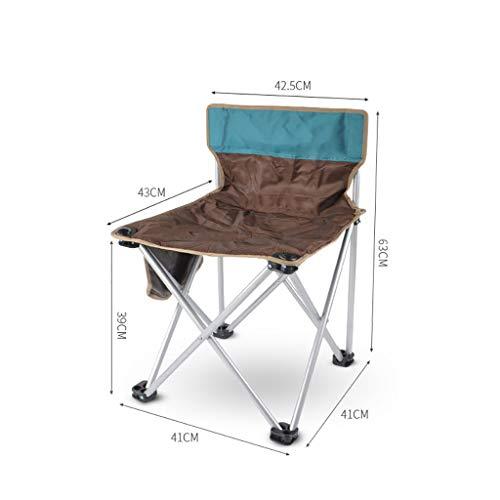 FH Camping en Plein Air Chaise Pliante, Plage De Camping Portable Pêche Pêche Tabouret Tabouret De Peinture Auto-Conduite Chaise Esquisse Chaise (Couleur : Brown)