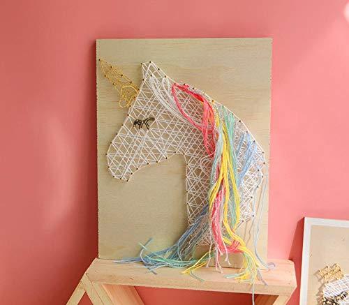 sswyfc String zijde schilderij muurdecoratie roze meisje hart kronkelende zwaan schilderij 21 * 28cm