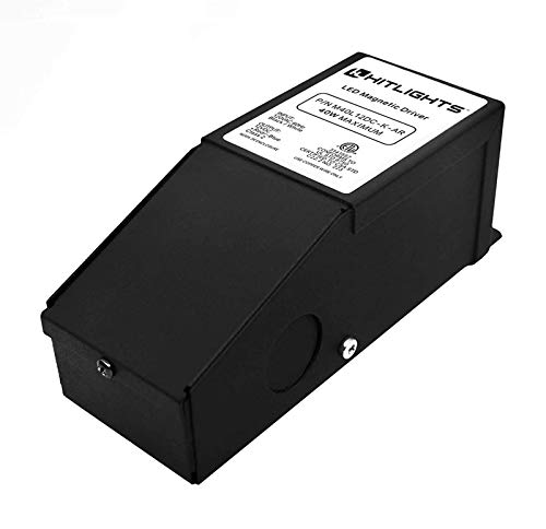 HitLights 40 Watt Dimmable LED Driver 12V Magnetic Power Supply  110V AC  12V DC LED Transformer Compatible with Lutron and Leviton for LED Strip Lights Constant Voltage LED Products