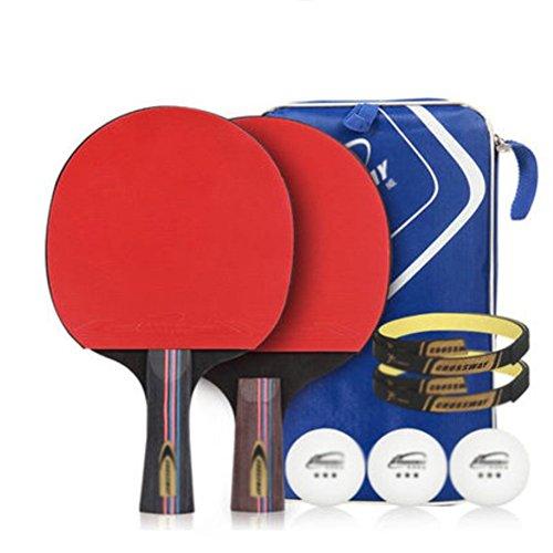 xianw Set De Mesa Ping Pong Padel - Pack De 2 Paletas De Premium Raquetas Y 3 Pelotas De Tenis De Mesa Paquete De Tenis De Mesa Recreativo   Caucho del Rendimiento para El Control De,Spin Y Ve