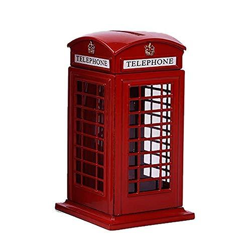 TYXL - Alcancía para Cabina telefónica, Hermoso y práctico, Material de aleación de Zinc, Recuerdo de Viaje, decoración del hogar para el Estudio del Dormitorio, la Sala de Estar, la decorac
