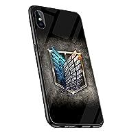 進撃の巨人 Attack on Titan スマートフォン ケース 強化ガラスケース 鏡面ガラス ハードケース 耐衝撃 携帯電話ケース iPhoneSE IPHONE SE 第2世代 携帯カバー スマホケース アニメ アイフォン 擦り傷防止 (01)