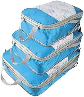 Generic Nylon Large Waterproof Mesh Travel Bag Organize Compression Packing Cube Travel Luggage Organizer: 4,