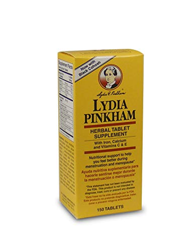 Lydia Pinkham Herbal Supplement Tablets for Menstruation and Menopause Support, 150 Count