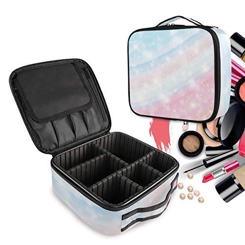 Marbre Licorne Galaxy Pink Print Trousse Sac Cosmétique Organisateur de Maquillage Pochette Sacs Cas avec Cloisons Amovibles pour Voyage Les Femmes Filles