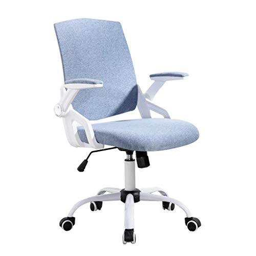 Office Chair with Arms and Back Support Executive Adjustable Computer Chair Swivel Ergonomic Desk Chair Comfy Padded for Office/Home/Bedroom (Color : Blue)