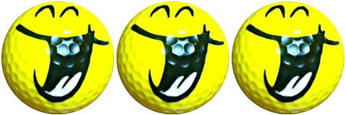 Hilarious Smiling Novelty Golf 3 Ball Sleeve