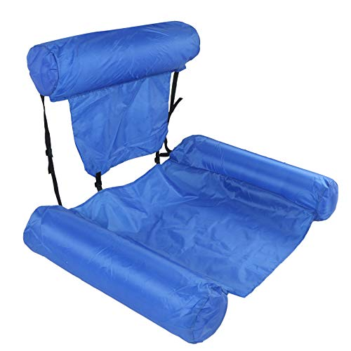 Inflatable Water Hammock, with Foam Board Foldable Floating Sofa, Quick‑Drying for Swimming Pool Summer(Model without buoyancy board (0.4kg))