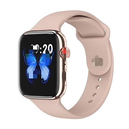 Liqi 2020 IWO 12 Pro Series 5 Inteligente Reloj SmartWatch los 44MM Bluetooth IP68 Resistente al Agua Reloj Deportivo for iOS Android PK IWO 8 13 10 MAX Liqi (Color : Pink, Size : with Gift Box)