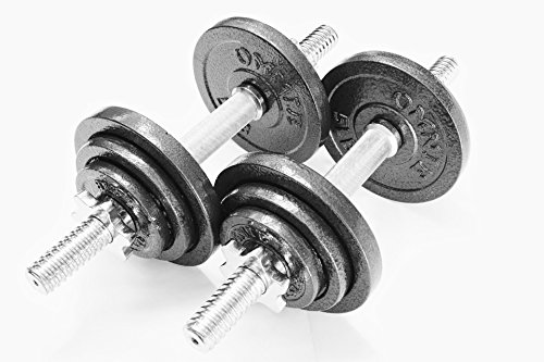 Omnie Pro Iron Adjustable Dumbbells with Gloss Finish and Secure Fit Collars, 45 LBS Sets (Pair)