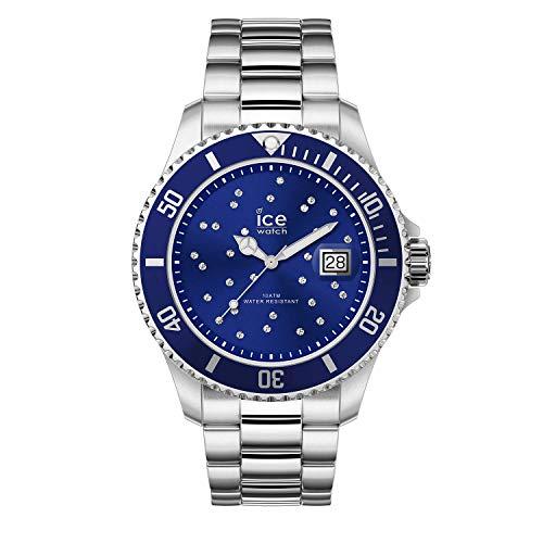 Ice-Watch - ICE steel Blue cosmos silver - Women\'s wristwatch with metal strap - 016773 (Medium)