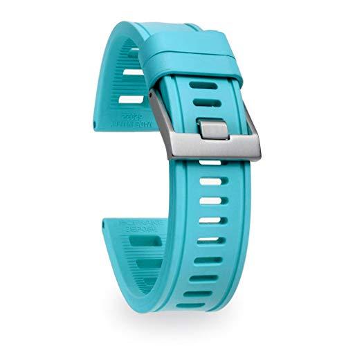 isofrane Correa de goma para relojes deportivos y buceo, 22 mm, color turquesa