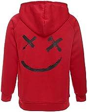 XIAOYAO Heren en dames basic hoodie sweatshirt met capuchon en sweatshirt
