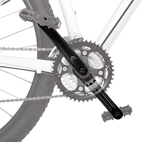 Brazo de Manivela Izquierda, Biela Bicicleta Biela Izquierda Biela Izquierda 170 para Brazo de Bicicleta de Manivela Izquierda de Aleación de Aluminio Brazo Bicicleta MTB 170 mm, Negro