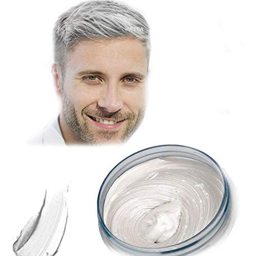 Haarfarbe Wachs, natürliche Matte Frisur für Party. Cosplay, Halloween (weiß)