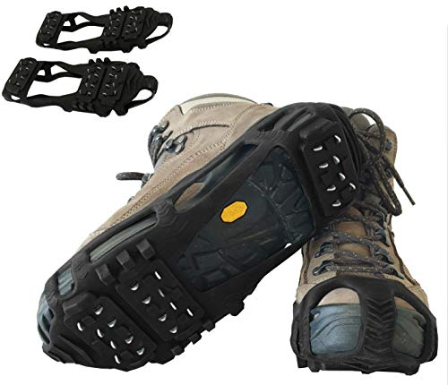 Limm Crampons Traction Ice Cleats - Microspikes Grips Quickly & Easily Over Footwear - Snow and Ice Cleats for Shoes and Boots - for Walk, Hike, Climb, Ice Fishing - Sizes M/L/XL