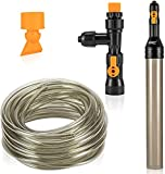 hygger Automatischer Wasserwechsler für Aquarien, Mulmsauger für Aquarien, Kiesreiniger für Fischaquarien, Kiesreiniger Rohr mit langem Schlauch Wasserwechsler Wartungswerkzeug (15M)