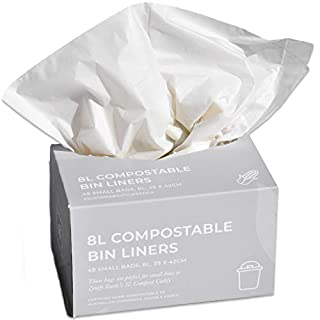 Zenify Earth Compostable Bin Liners 8L (48 bags) - Small compost caddy biodegradable bags- Australian Owned (B089K729N7) | Amazon price tracker / tracking, Amazon price history charts, Amazon price watches, Amazon price drop alerts